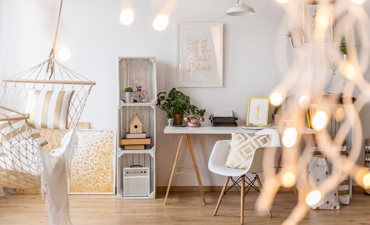 4x Wohnzimmer-Beleuchtung